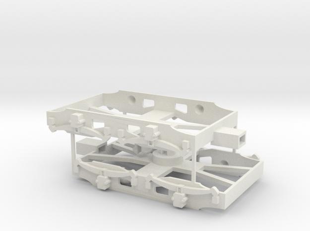 assemblage 2 bogies porteurs métro in White Natural Versatile Plastic: 1:87 - HO