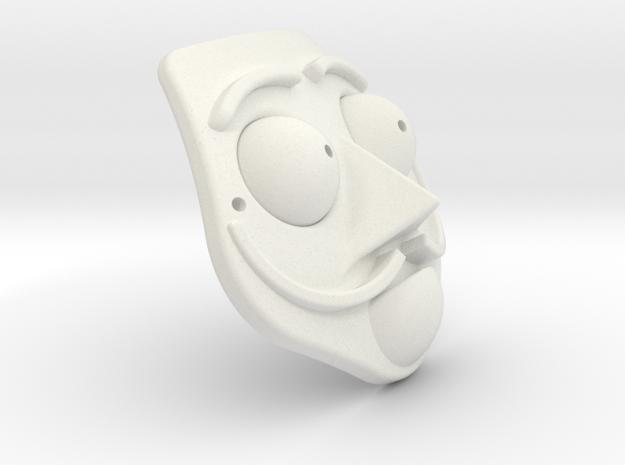 Dali Mask in White Natural Versatile Plastic