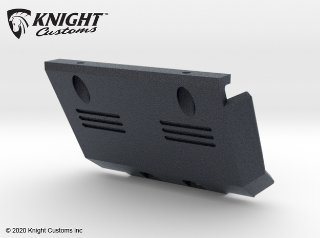 KCEM1005 IFS stock skid plate in Black Natural Versatile Plastic