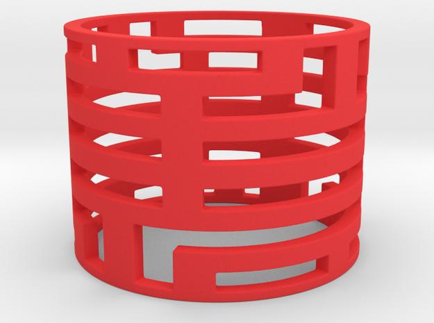 Bars ring in Red Processed Versatile Plastic: Large