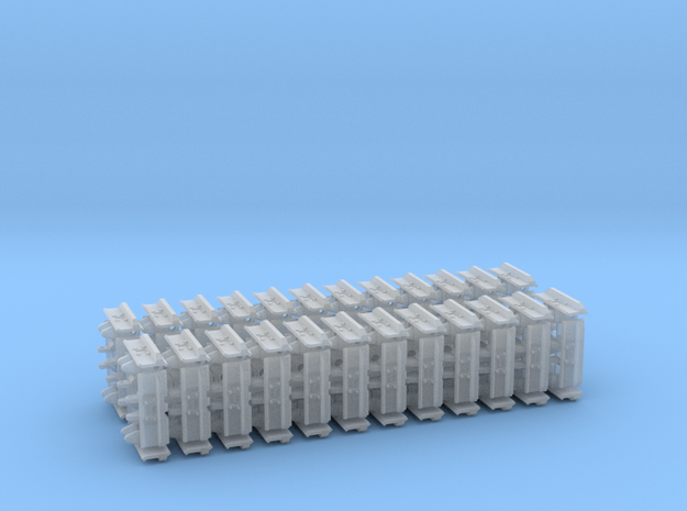"""1:50 24"""" Single grouser tracks for the UH PC210 in Smooth Fine Detail Plastic"""