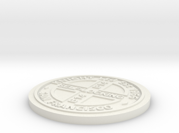 1:9 Scale Manhole Cover - Knights Type B in White Natural Versatile Plastic