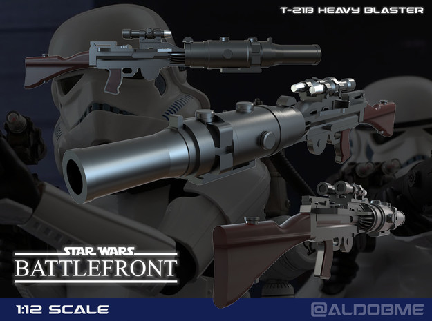 T-21B Targeting Rifle in Smooth Fine Detail Plastic