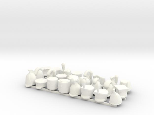 24 x Napoleonics Set (Rheinbund, Austrian, Russian in White Processed Versatile Plastic