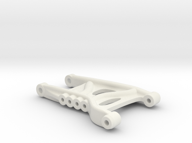B3 Dyna Storm rear suspension arm in White Natural Versatile Plastic