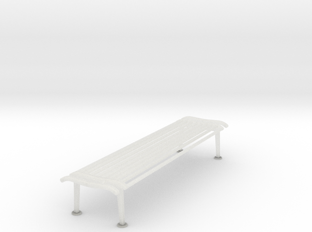 RhB Bench Without Backrest in Smooth Fine Detail Plastic
