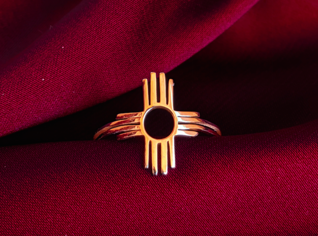 ZIA in 14k Gold Plated Brass: 5 / 49