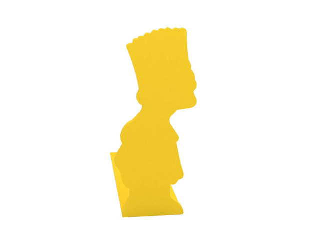 Bookend in Yellow Processed Versatile Plastic