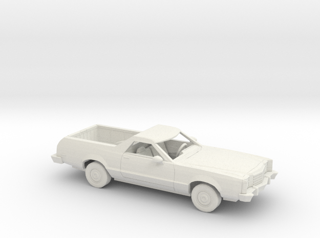 1/64 1977-79 Ford Ranchero Kit in White Natural Versatile Plastic