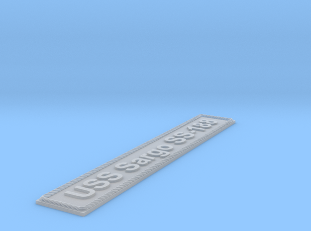 Nameplate USS Sargo SS-188 (10 cm) in Smoothest Fine Detail Plastic