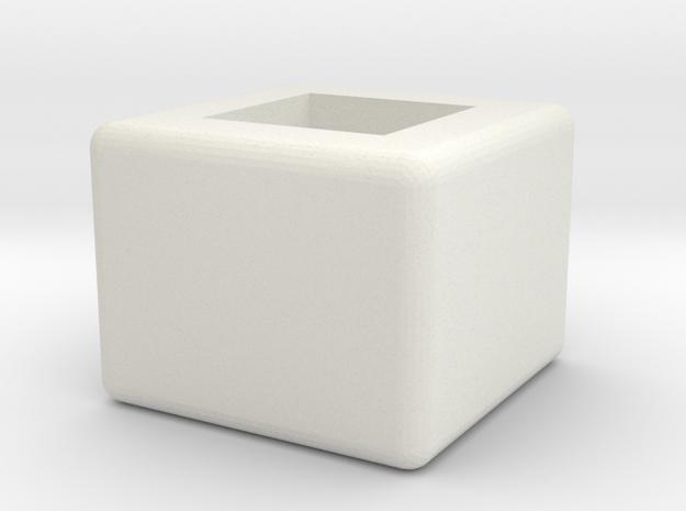 Cap x1 v1 in White Natural Versatile Plastic