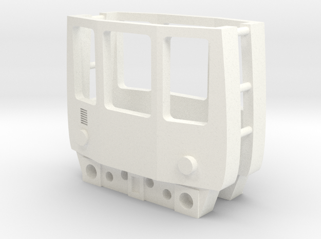 3mm Scale Class 104 Cab in White Processed Versatile Plastic
