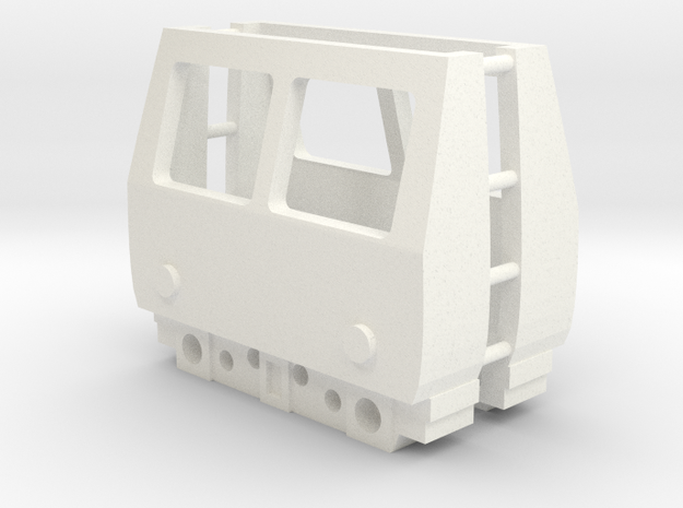 3mm Scale Class 105 Cab in White Processed Versatile Plastic