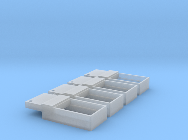 N Scale Atlas GP9 Offset 8X12 Spkr Enclosure 4PK in Smooth Fine Detail Plastic