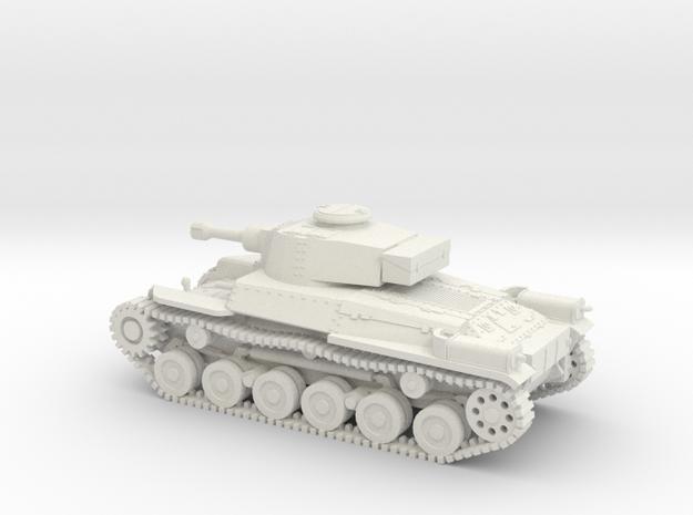 1/87 IJA Type 97 Shinhoto Tank w/120mm gun in White Natural Versatile Plastic