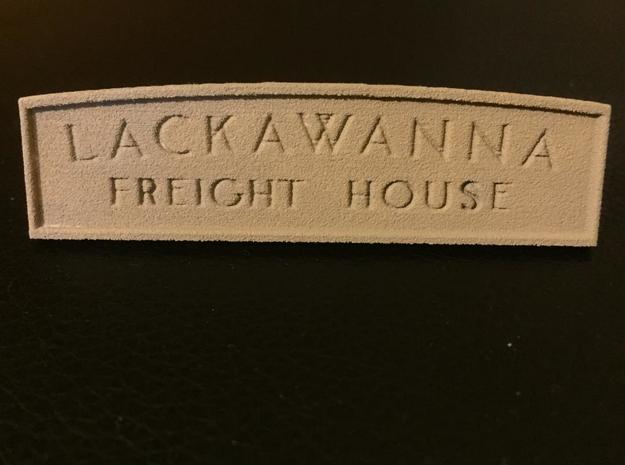 HO Lackawanna Freight House Sign in White Natural Versatile Plastic: 1:87 - HO