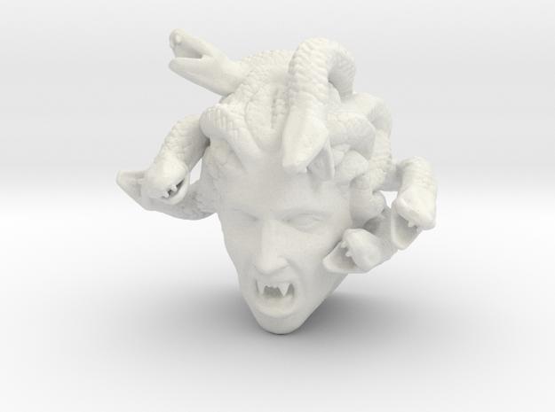 Medusa Fridge Magnet in White Natural Versatile Plastic