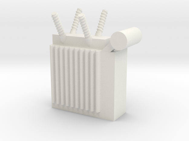 Power Substation 1/64 in White Natural Versatile Plastic