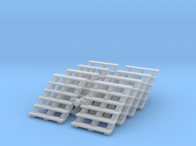 Wooden Stairs (x8) 1/120 in Smooth Fine Detail Plastic