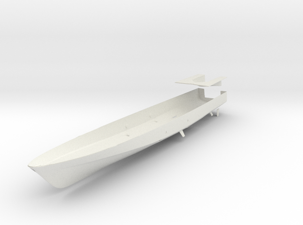 1/96 scale Cyclone Hull and ramp in White Natural Versatile Plastic