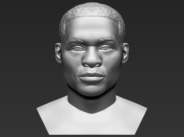 Russell Westbrook bust in White Natural Versatile Plastic