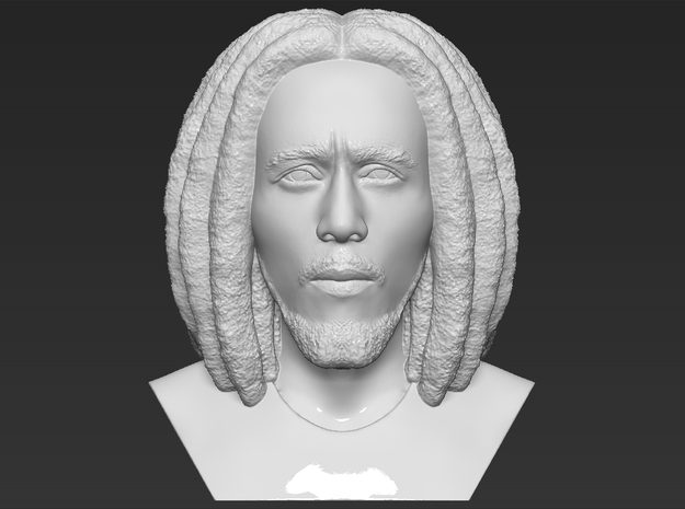 Bob Marley bust in White Natural Versatile Plastic