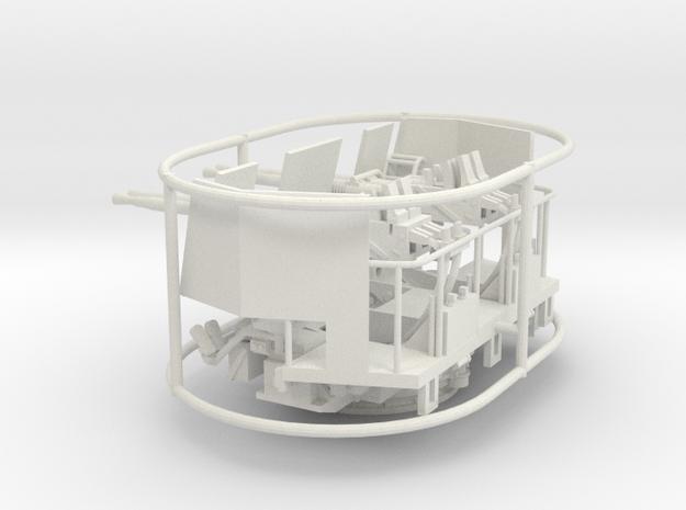 1/72 40mm Bofors Quad Mount w/ Shield in White Natural Versatile Plastic