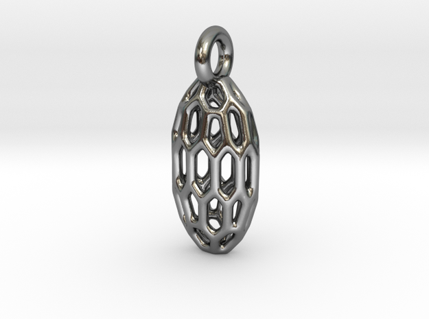 Bean in Polished Silver: Small