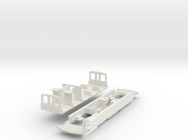 Fahrgestell Stubaitalbahn Tw 1 in White Natural Versatile Plastic