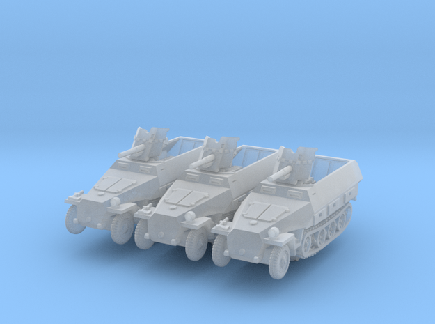 Sdkfz 251/10 D Pak 36 (x3) 1/285 in Smooth Fine Detail Plastic