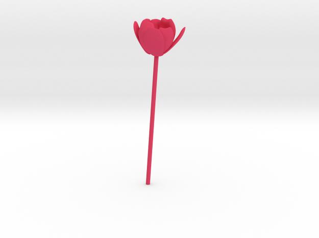 Tulip in Pink Processed Versatile Plastic