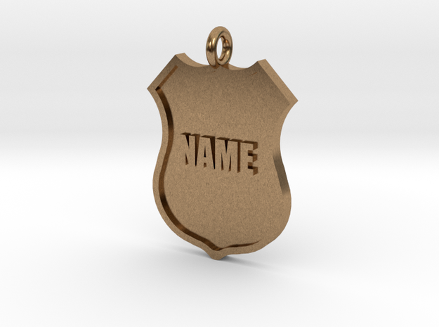 Police Shield Pet Tag / Key Fob 3d printed
