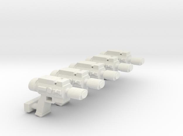 LasPistol SET in White Natural Versatile Plastic