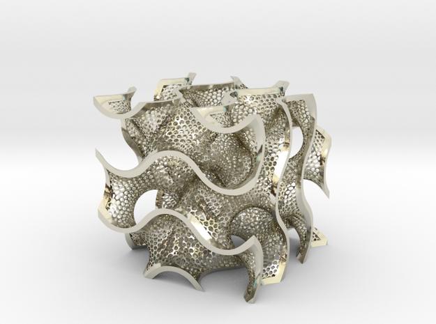 Metal Gyroid 3d printed