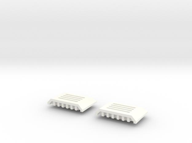 Krono's Hand Covers in White Processed Versatile Plastic