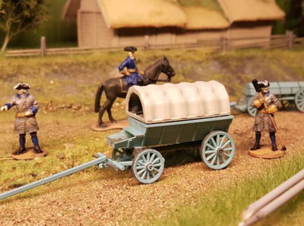 Carolean Ammo wagon in Smooth Fine Detail Plastic: 1:56