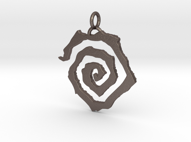 Mark of Tharizdun in Polished Bronzed-Silver Steel