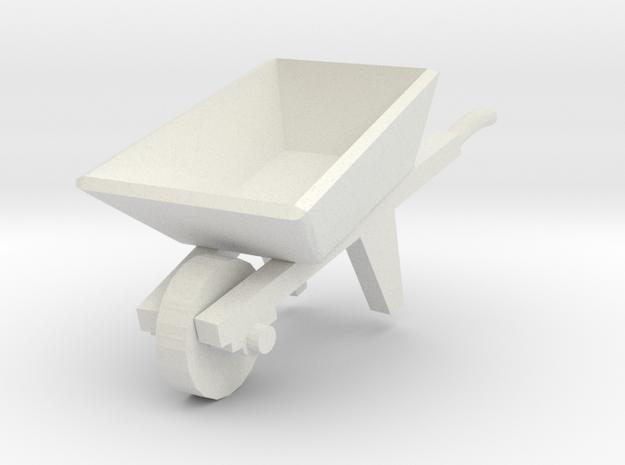 Wheelbarrow 1/12 in White Natural Versatile Plastic