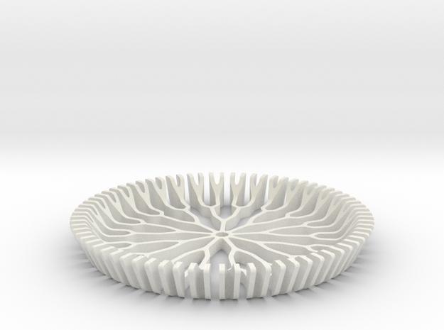 Branch Coaster | XL in White Natural Versatile Plastic