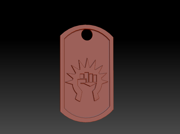 Boros Guild Magic the Gathering Themed Dog Tag in Polished Gold Steel