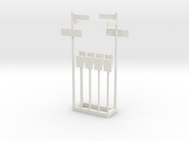 NYC Street and Bus Stop Signs in White Natural Versatile Plastic: 1:87 - HO