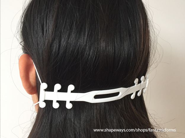 Ear Saver Medical Mask Strain Relieve in White Natural Versatile Plastic