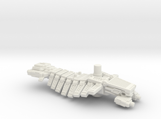 TurboBeast Gun (5mm) in White Natural Versatile Plastic: Medium