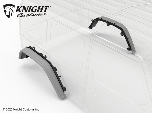 KCJL1005 JL Bar Fender REAR in Gray PA12