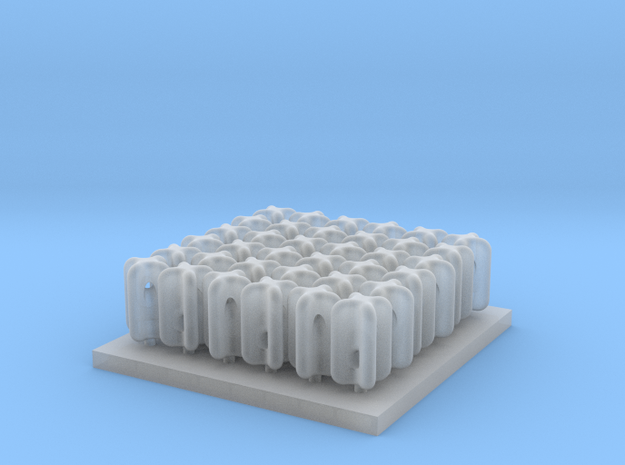 Porcelain Strain Insulator Set F scale in Smooth Fine Detail Plastic