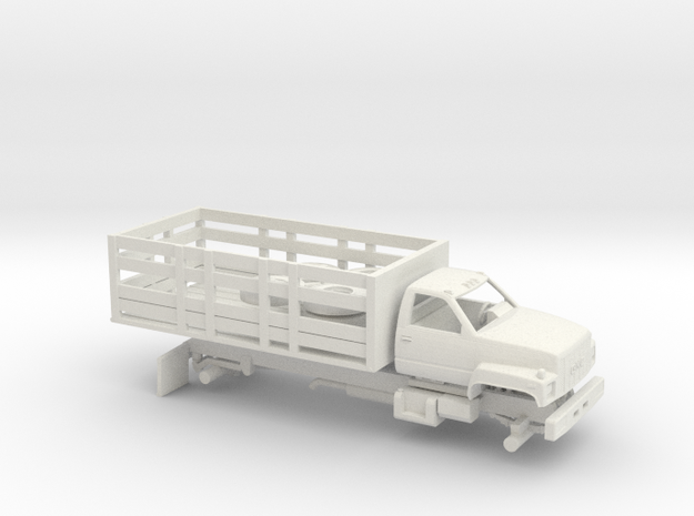 1/32 1990-94 GMC TopKick Stake Bed Kit in White Natural Versatile Plastic
