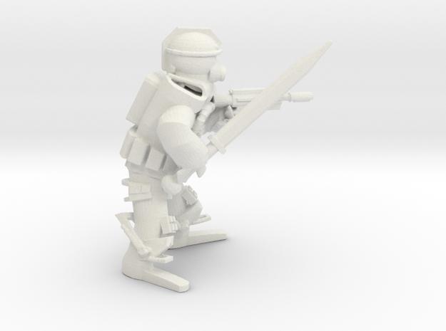 Imperial Guardian LasPistol Sword in White Natural Versatile Plastic