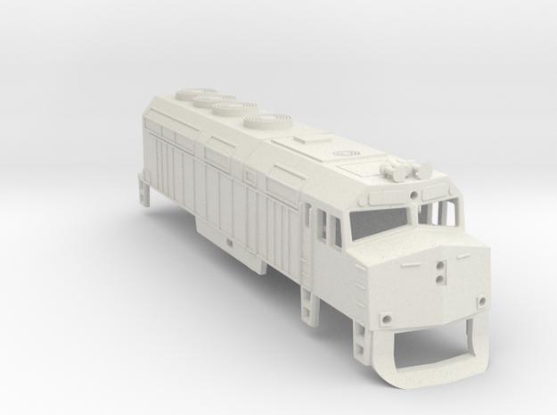 Z Scale EMD F40PH Shell in White Natural Versatile Plastic