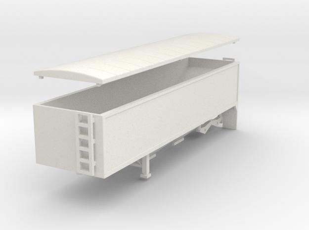 000660 Grain trailer HO 1:87 in White Natural Versatile Plastic: 1:87 - HO