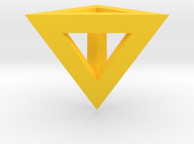 gmtrx v1 lawal skeletal tetrahedron in Yellow Processed Versatile Plastic
